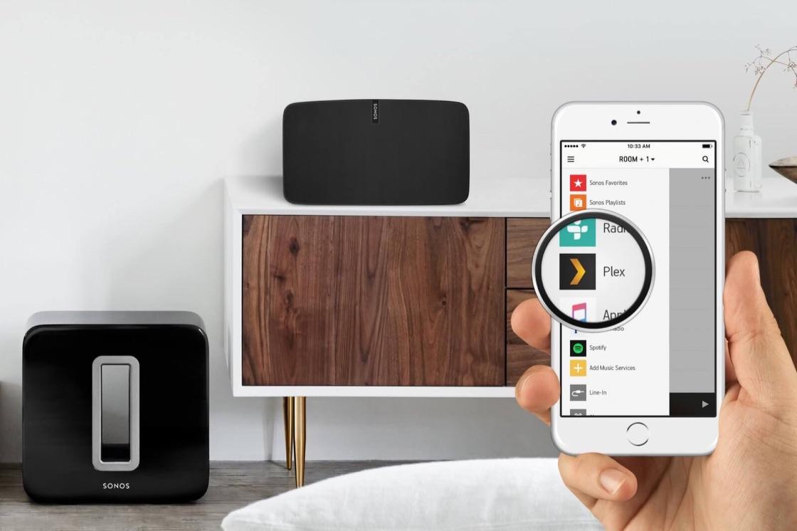 Plex en Sonos werken samen.