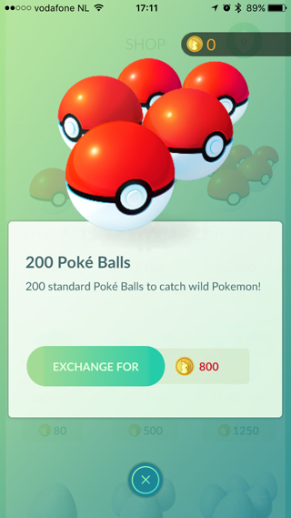 Pokemon Shop, ballen kopen