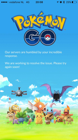 Pokémon Go serverprobleem