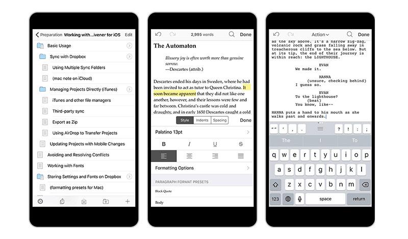 Scrivener-app voor iPhone