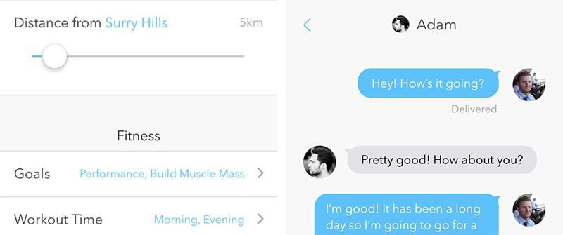 Sidekick-app - voorkeuren en chat