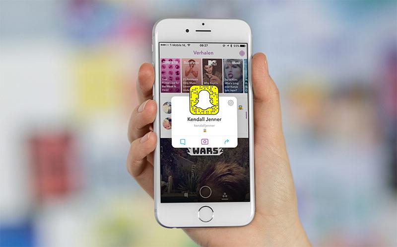 Snapchat - gebruikers aanbevelen bij vrienden