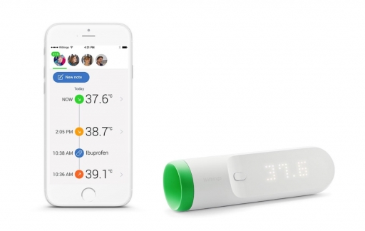 Withings Thermo met app in Celsius.