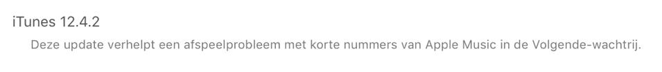 iTunes 12.4.2 zet ik even bij el capitan 10.11.6 erbij