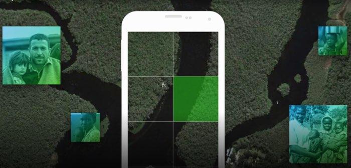 MapSwipe op een smartphone