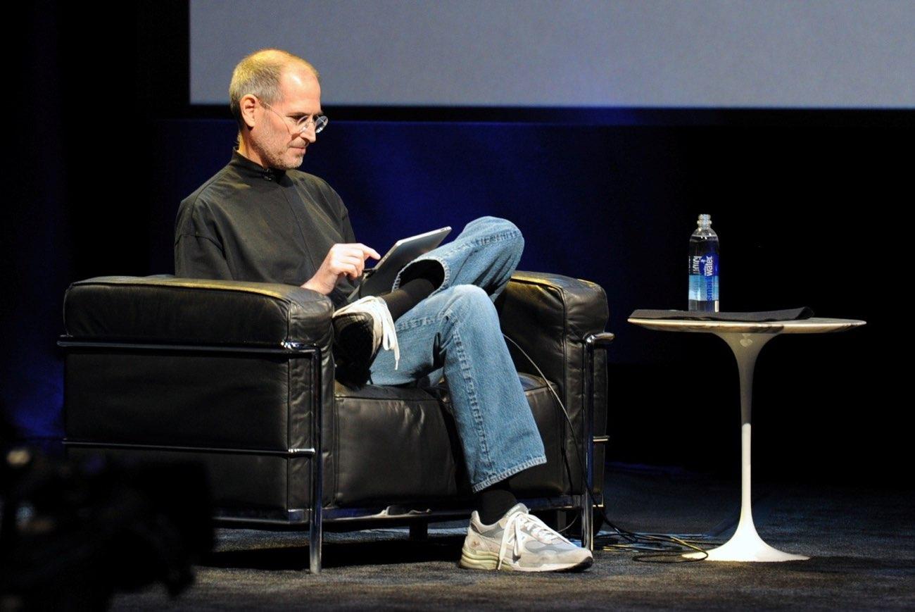 Steve Jobs mt eerste generatie iPad