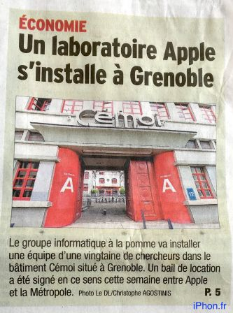 Apple R&D Lab in Grenoble