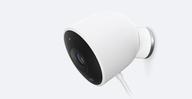 Nest Cam Outdoors schuin van de zijkant