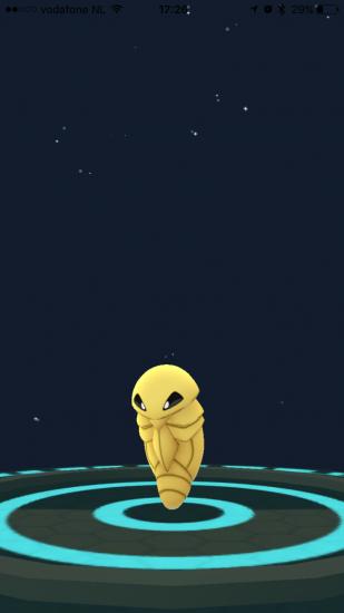 Evolutie van een Pokémon in Pokémon Go.