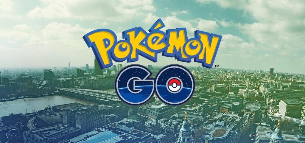 Pokémon Go-logo in Londen.