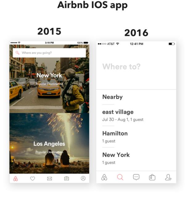 App designtrend 2016: AirBnB