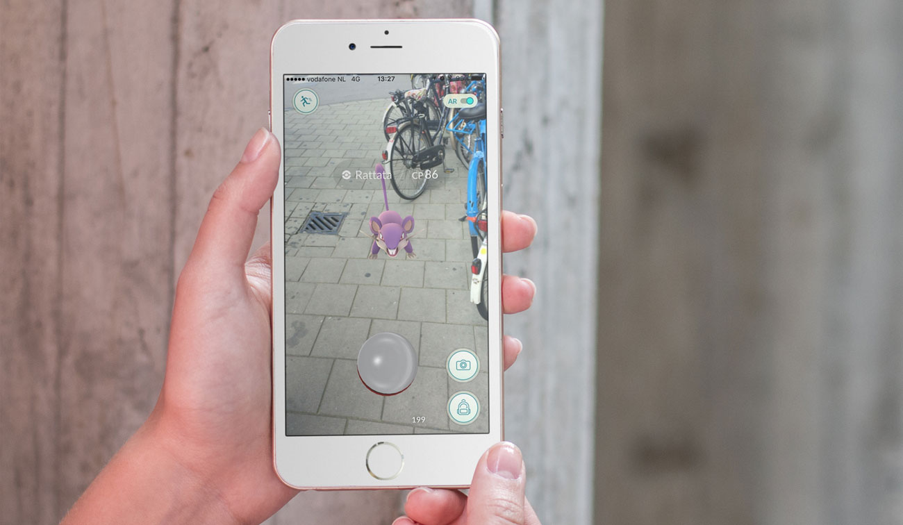 Pokemon Go op de iPhone