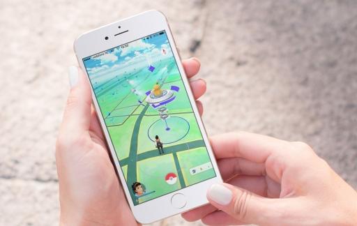 Pokemon Go op een iPhone