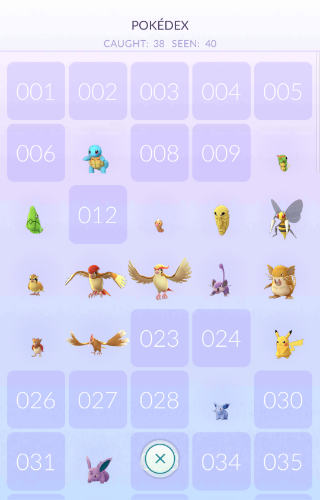 Pokemon Go Pokédex
