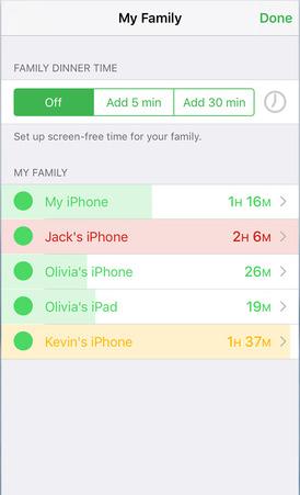 Moment-app - Familie-gebruik bijhouden