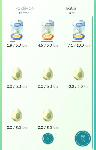Pokemon Go Eieren