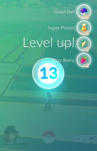 Pokemon Go level omhoog