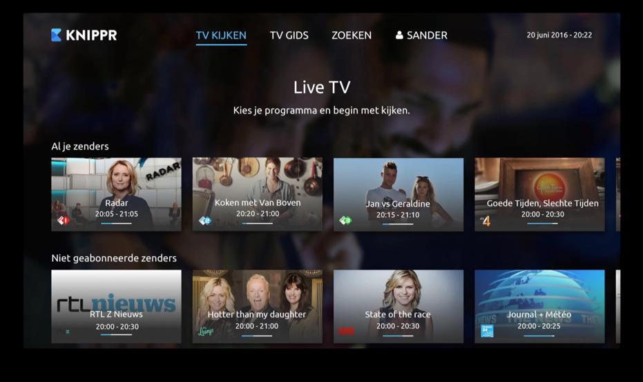 KNIPPR op de Apple TV.
