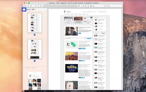 Stap 3 - Tip PDF-bestanden combineren in Voorvertoning - klap open