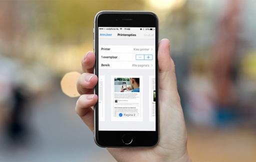 Printen - printeropties iOS 10