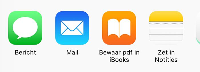 bewaar pdf in iBooks