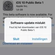 iOS 10 publieke beta installeren lukt niet? Dit kun je proberen