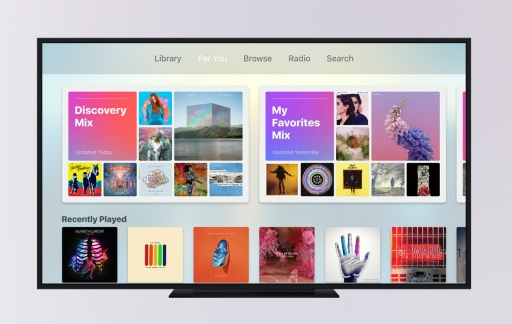 Apple Music op een Apple TV met tvOS 10.