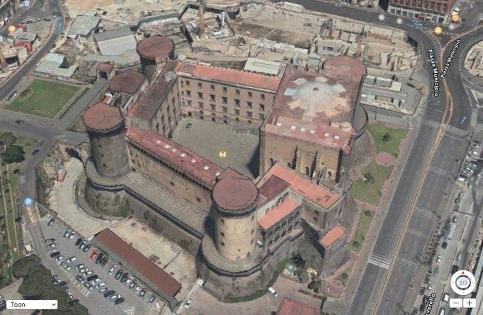 Flyover Napels kasteel