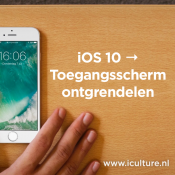 Nieuw toegangsscherm van iOS 10 ontgrendelen.