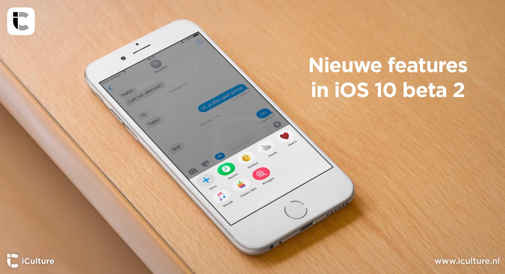 Beta 2 van iOS 10 met nieuwe features.