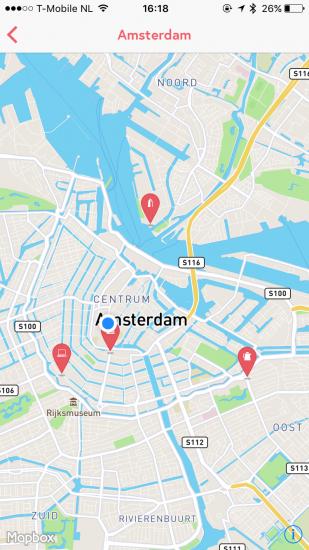 Flamyngo-app - alle plekken op een kaart