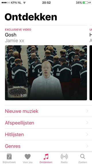 Apple Music ontdekken iOS 10 beta 2