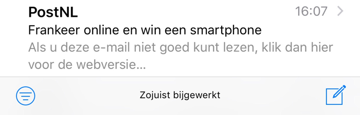 Mail: nieuw filtericoon in iOS 10 beta 2