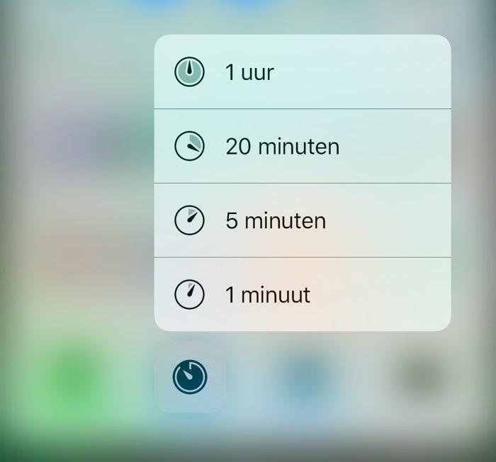 iOS 10 beta 2 icoontjes bij Timer