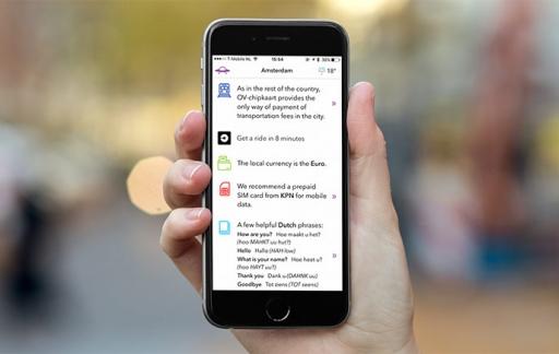 Landed-app voor stedentrips