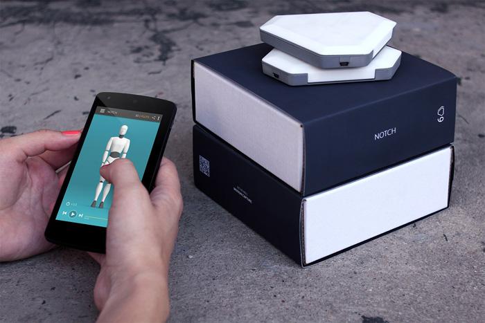 Notch-sensor met smartphone