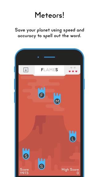 Word Planet Game voor de iPhone.
