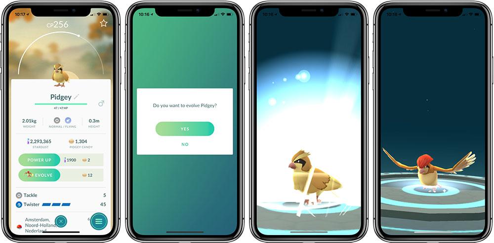 Pidgey evolueren Pokémon Go