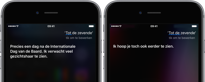 Siri-grappen over het Apple-evenement