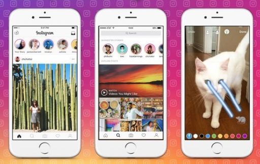 Instagram Stories op Verkennen-tabblad