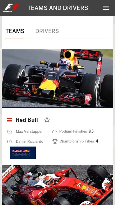 Formule 1 teaminformatie
