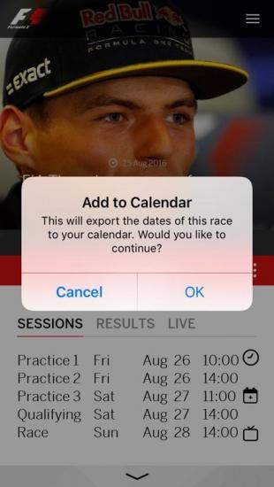Formule 1 synchroniseren met je kalender
