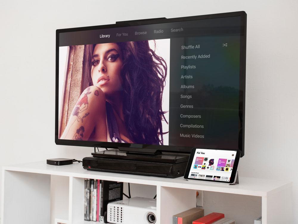 tvOS 10 muziek-app
