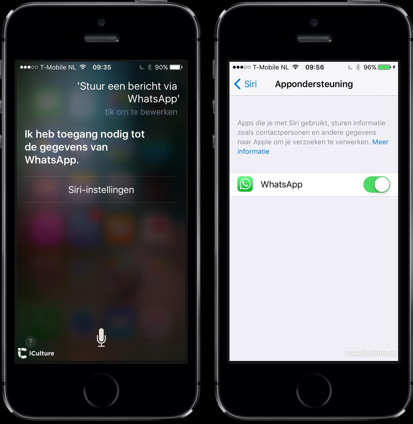 WhatsApp met Siri instellen.