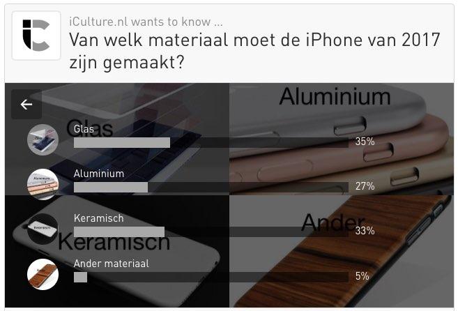 iCulture peilt: materiaal iPhone 2017
