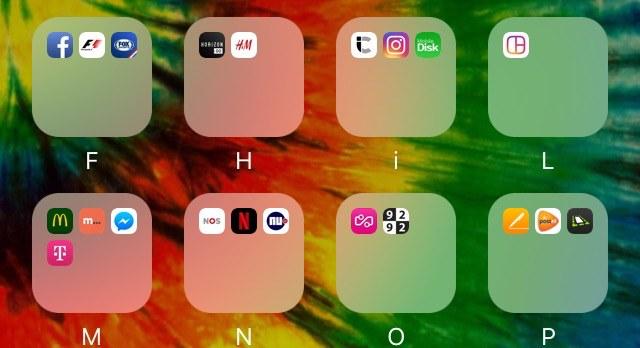 Beginscherm iPhone indelen met alfabetische mappen