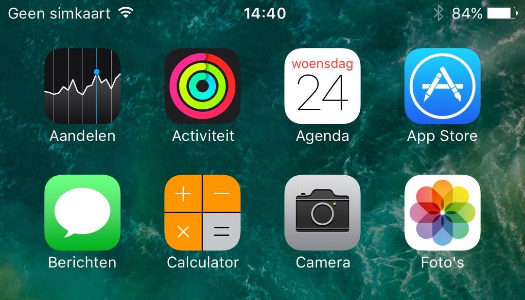Beginscherm iPhone indelen op alfabetische volgorde