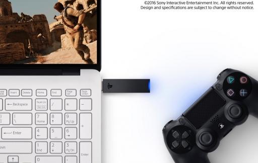 Dongle voor DUALSHOCK 4-controllers van de PlayStation 4.