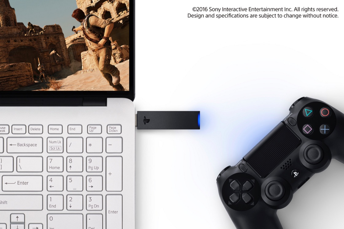 Dongle voor DUALSHOCK 4-controllers van de PlayStation 4.