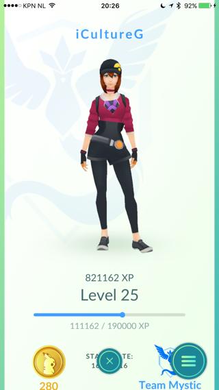 Pokemon Go hogere levels